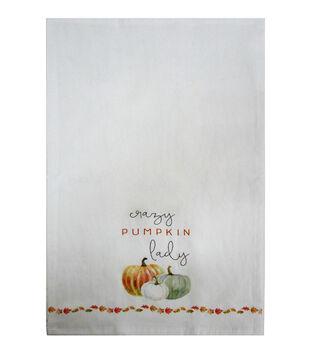 Simply Autumn Tip Towel-Crazy Pumpkin Lady
