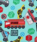 Blizzard Fleece Fabric -Vehicle & Roadway Fun
