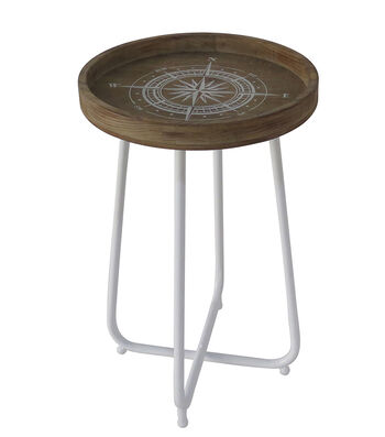 Seaport Wood & Metal Table-Compass
