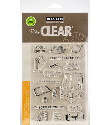 Hero Arts 18 pk Clear Stamps-In the Study