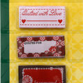 Dritz - Sew In Embroidered Labels - Quilted W Love