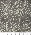 Legacy Studio Indian Batiks Cotton Fabric 44\u0022-Dotted Floral Gray