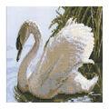 RIOLIS 13.5\u0027\u0027x8.25\u0027\u0027 10-count Counted Cross Stitch Kit-Female Swan
