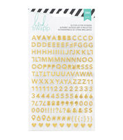 Heidi Swapp Memory Planner Alphabet Stickers 2/Sheets-Gold & Pink Glitter, , hi-res