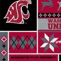 Washington State Cougars Fleece Fabric-Sweater