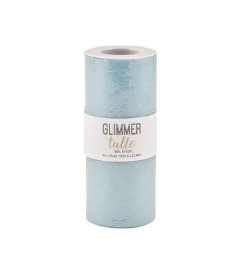 Glimmer Tulle Spool-Powder Blue