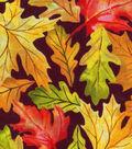 Harvest Cotton Fabric -Large Leaves