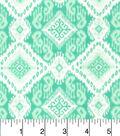 Snuggle Flannel Fabric 42\u0022-Ava Ice Green Aztec