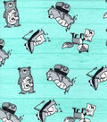 Nursery Flannel Fabric-Wild Tossed Animals