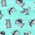 Nursery Flannel Fabric-Wild Tossed Animals
