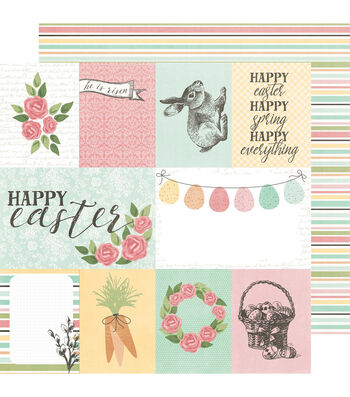 Simple Stories Happy Easter 12''x12'' Cardstock with Elements