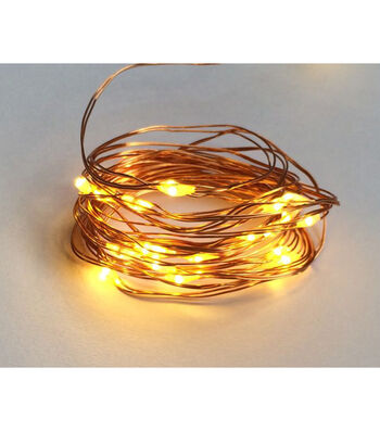 Bloom Room 25ct Battery Operated Rice Light Strand-Brown