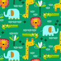 Super Snuggle Flannel Fabric-Playful Animals On Green