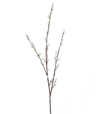 Fresh Picked Spring 53'' Pussy Willow Spray-Cream