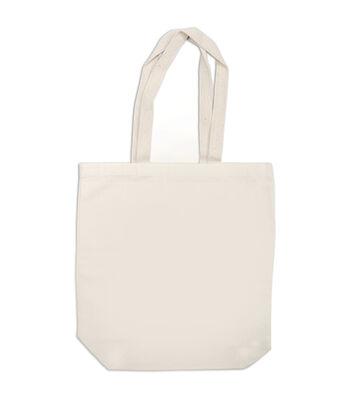 """Canvas Medium Tote Bag 13.5""""x4.25""""x14-Natural"""