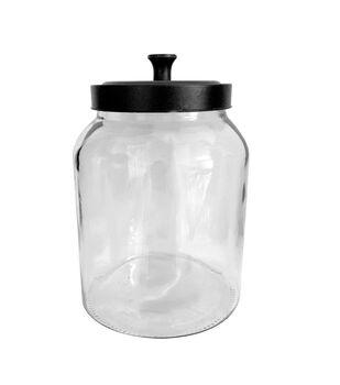 Fab Lab Glass Jar with Black Lid-Large