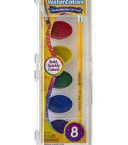 Crayola Glitter Watercolors 8/Pkg, , hi-res