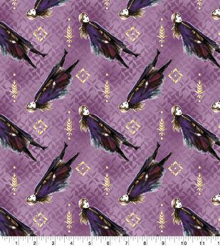 Disney Frozen 2 Cotton Fabric-Anna Toss Metallic