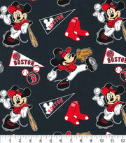 Boston Red Sox Cotton Fabric-Mickey, , hi-res