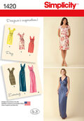 Simplicity Pattern 1420U5 16-18-20-2-Misses Dresses