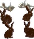 Eyelet Outlet Shape Brads-Chocolate Bunny