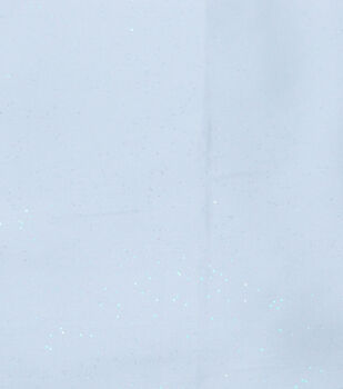 Glitterbug  Glitter Satin Light Blue Fabric