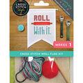 Cross Stitch Style Wall Flag Kit-Saying