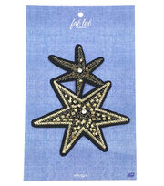 Fab Lab Fab Lab Wearables Stars Iron-on Applique, , hi-res