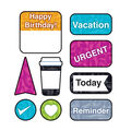 Color Harmony Just Plan It superShapes Stickers-Large 6 Packs