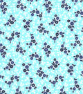 Snuggle Flannel Fabric -Spa Ditsy Floral