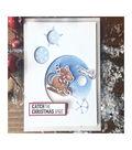 Hero Arts Christmas Stamp & Cut Set-Sledding