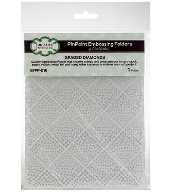 "Creative Expressions Embossing Folder 5.75""x7.5""-Graded Diamonds"