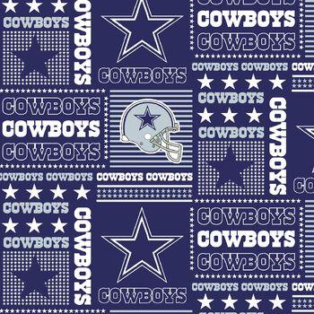 Dallas Cowboys Cotton Fabric -Patch