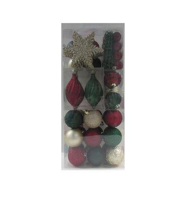 Maker's Holiday Christmas Woodland Lodge Boxed Ornaments