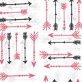 Snuggle Flannel Fabric -Beautiful Rebel Arrows on White