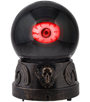 Maker's Halloween Animated Ball with Mystical Eyeball Decor