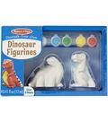 Melissa & Doug Decorate-Your-Own Figurines Kit-Dinosaur