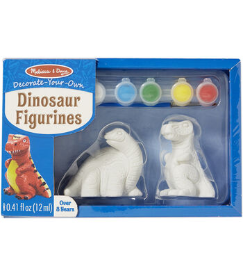 Melissa & Doug Decorate-Your-Own Figurines Kit-Dinosaur