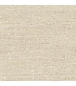 Ling Cream Grasscloth Wallpaper