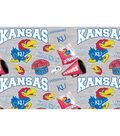 University of Kansas Jayhawks Cotton Fabric-Collegiate Mascot