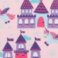 Blizzard Fleece Fabric -Unicorns And Castles