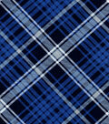Snuggle Flannel Fabric -Kate Navy Blue Plaid
