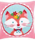 Vervaco 16\u0027\u0027x16\u0027\u0027 Cushion Cross Stitch Kit-Laughing Small Fox