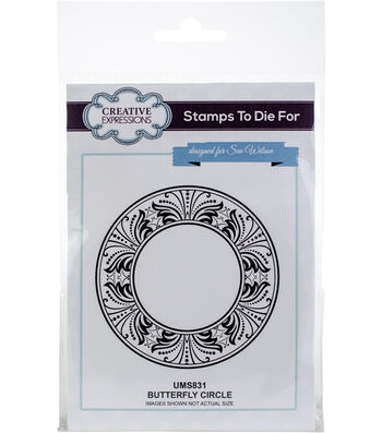 Creative Expressions Stamps To Die For Sue Wilson Stamp-Butterfly Circle