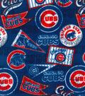 Chicago Cubs Fleece Fabric 58\u0022-Vintage