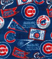 "Chicago Cubs Fleece Fabric 58""-Vintage, , hi-res"