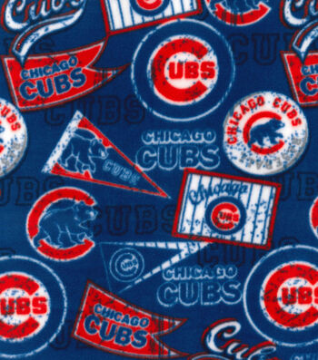 Chicago Cubs Fleece Fabric -Vintage