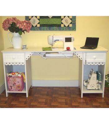 Homespun Olivia Sewing Cabinet-White