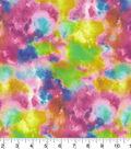 Wide Quilt Fabric 108\u0027\u0027-Bright Muticolor Watercolor