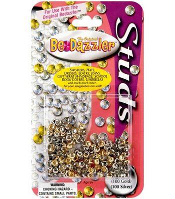 The Original BeDazzler Stud Refills 200/Pkg-100 Gold/100 Silver